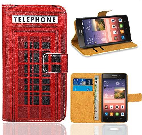 Huawei Ascend G620s Handy Tasche, FoneExpert Wallet Case Flip Cover Hüllen Etui Ledertasche Lederhülle Premium Schutzhülle für Huawei Ascend G620s