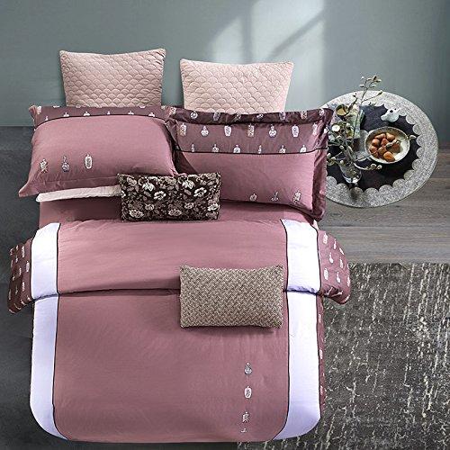 KKVV Bettwäsche eine vierköpfige Familie Bestickte Baumwolle doppelte Bettdecke Deckblätter , b , 220*240