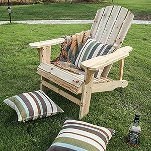 Lokate Home Adirondack Stühle, Holz, Natur Adirondack Chair Natur