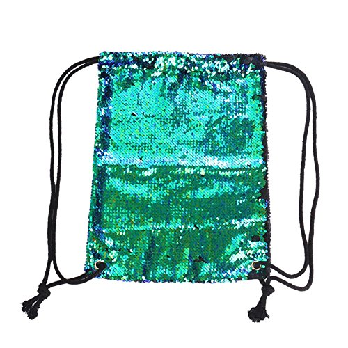 Alian Rucksack , Tunnelzug Rucksack Symphonie Farbe Meerjungfrau Pailletten Fashion Lady Outdoor Sports Bag