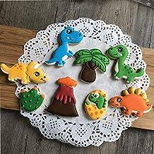 Set 3D Moldes Mundo Dinosaurio para Galletas,Fondant,Fruta,pastas