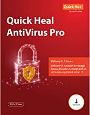 Quick Heal Antivirus Pro Latest Version - 2 PCs, 3 Years (Email Delivery in 2 hours- No CD)