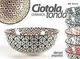 SET 6 PEZZI CIOTOLA IN CERAMICA TONDA DECORI ASSORTITI 13X13X5.7CM ART. 720109