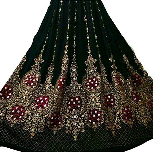Neue Design Schöne Damen Indian Boho Hippie Zigeuner Lang Sequin Rock | Bauchtanz Röcke | Tänzer Welt (Schwarzes Gold mit rosa Einlage) (Welten Die Besten Kostüme)