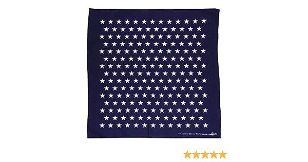 Bleu fonc/é Bleu Blanc /étoiles /étoile Star Foulard de collier bandana rouge