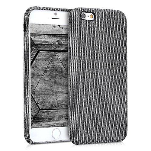 kwmobile Hülle für Apple iPhone 6 / 6S - Case Handy Schutzhülle Stoff - Backcover Cover Canvas Design Grau