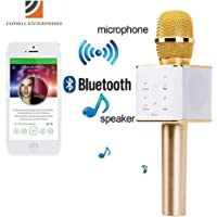jajoria's Karaoke Portable Handheld Wireless Microphone with Bluetooth Speaker for All IOS & Android