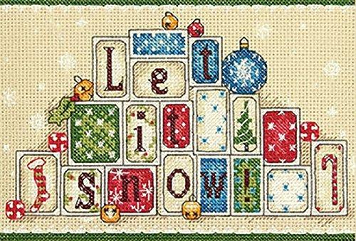 Dimensions Gezählter Kreuzstick Set, Let it Snow (No Count Cross Stitch Kits)