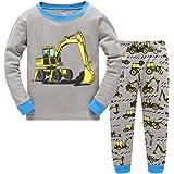 Tkiames Niño Pijamas Dos Piezas 100% Algodón Pjs Manga Larga Pijama 2-9 Años