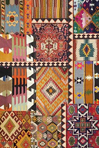 Vilber Bohemian Kilim 2495 Alfombra, Vinilo, Multicolor, 100x153x0.2cm