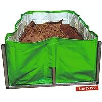 V.K. Sarvottam VK Vermibed for Vermi Compost, HDPE Fabric (U V Coated, 340 GSM, Green/White, 8 x 4 x 2 ft)