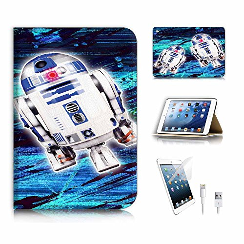 (für iPad Mini 4, Generation 4) Flip Wallet Schutzhülle & Displayschutzfolie Bundle. a6431BB8Krieg der Sterne