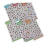 DIY Handbook Stickers Nette Aufkleber Aufkleber-Set von 6 / Little Girl