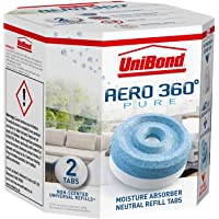 Unibond AERO 360° Moisture Absorber Neutral Refill Tab, ultra-absorbent and odour-neutralising, for AERO 360° Dehumidifier, Condensation Absorbers, Twin Pack (2 x 450 g)