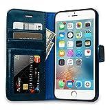 Labato Handytasche für iPhone 6 Plus/ 6s Plus Schutzhülle aus Echt Leder Bookstyle Hülle für i Phone 6 Plus/ 6s Plus, Zubehör für iPhone6 Plus Smartphone, blau, Lbt-I6U-05Z46