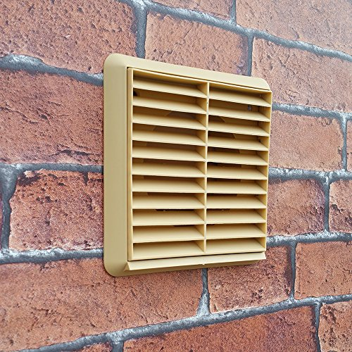 Kair Louvred Grille 125mm 5 inch Terracotta External Wall Ducting Air Vent with Round Spigot
