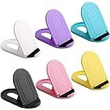 AFUNTA 6 st universal mobiltelefonhållare, ellips bärbar justerbar fickstorlek telefonhållare surfplattestativ, kompatibel te