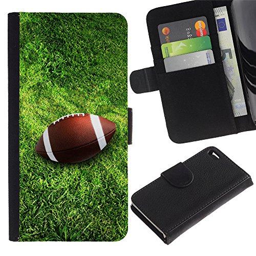 Graphic4You Amerikaner Fußball Football Sport Design Brieftasche Leder Hülle Case Schutzhülle für Apple iPhone 4 und 4S Design #3