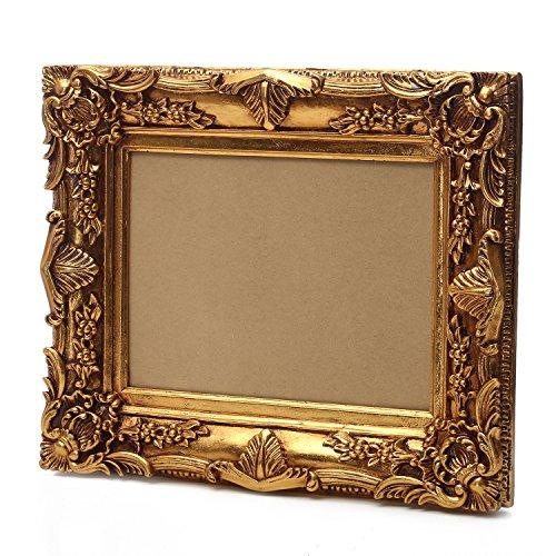 Prunk Bilderrahmen Barockrahmen Antik Gold 60x50/ 30x40 cm Mit Rückwand, Retro Vintage look durch...