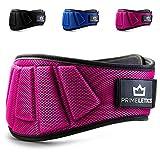 PRIMELETICS Premium Gewichthebergürtel Ultraleicht Trainingsgürtel für Bodybuilding, Crossfit, Krafttraining, Fitness und Powerlifting - Pink