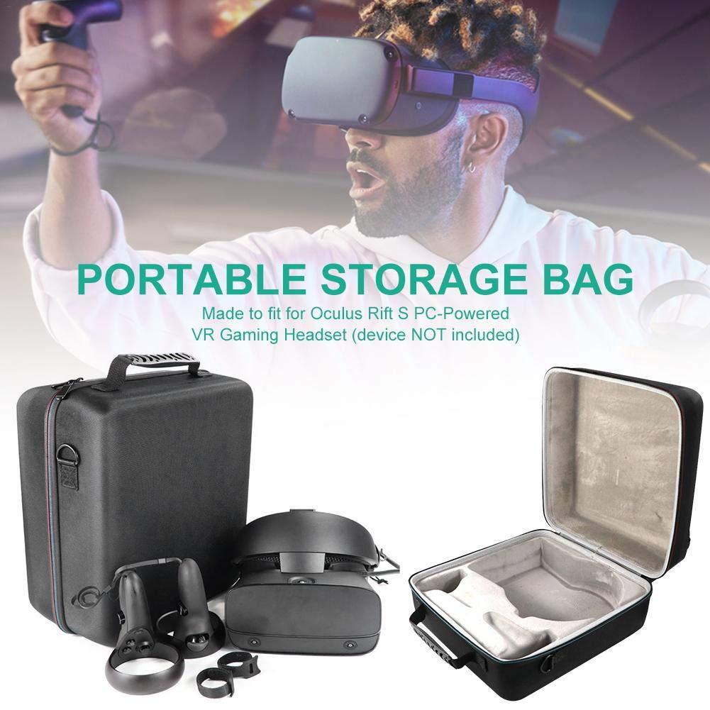 Liteness Boîte de Rangement pour Lunettes VR, étui Rigide Portable pour Oculus Rift S, alimenté par PC, contrôleur de Casque de Jeu, Accessoire de Protection, Sac de Rangement