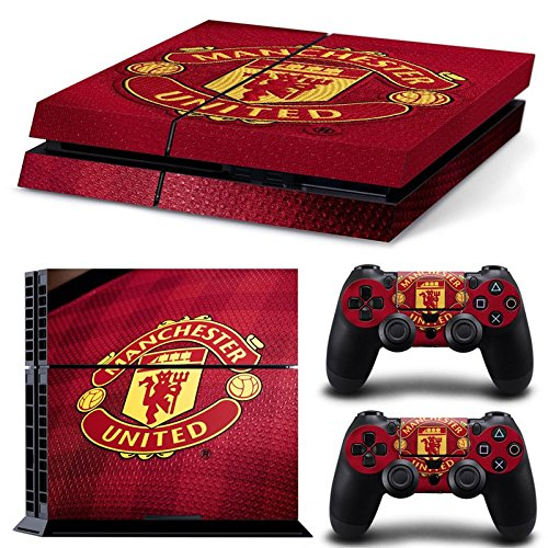 manchester-united-fc-ps4-playstation-4-console-2-controllers-skin-sticker-vinyl-decal-set-2321