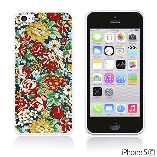 OBiDi - Flower Pattern Hardback Case / Housse pour Apple iPhone 5C - Colorful Floral Art Paint Retro Floral Print