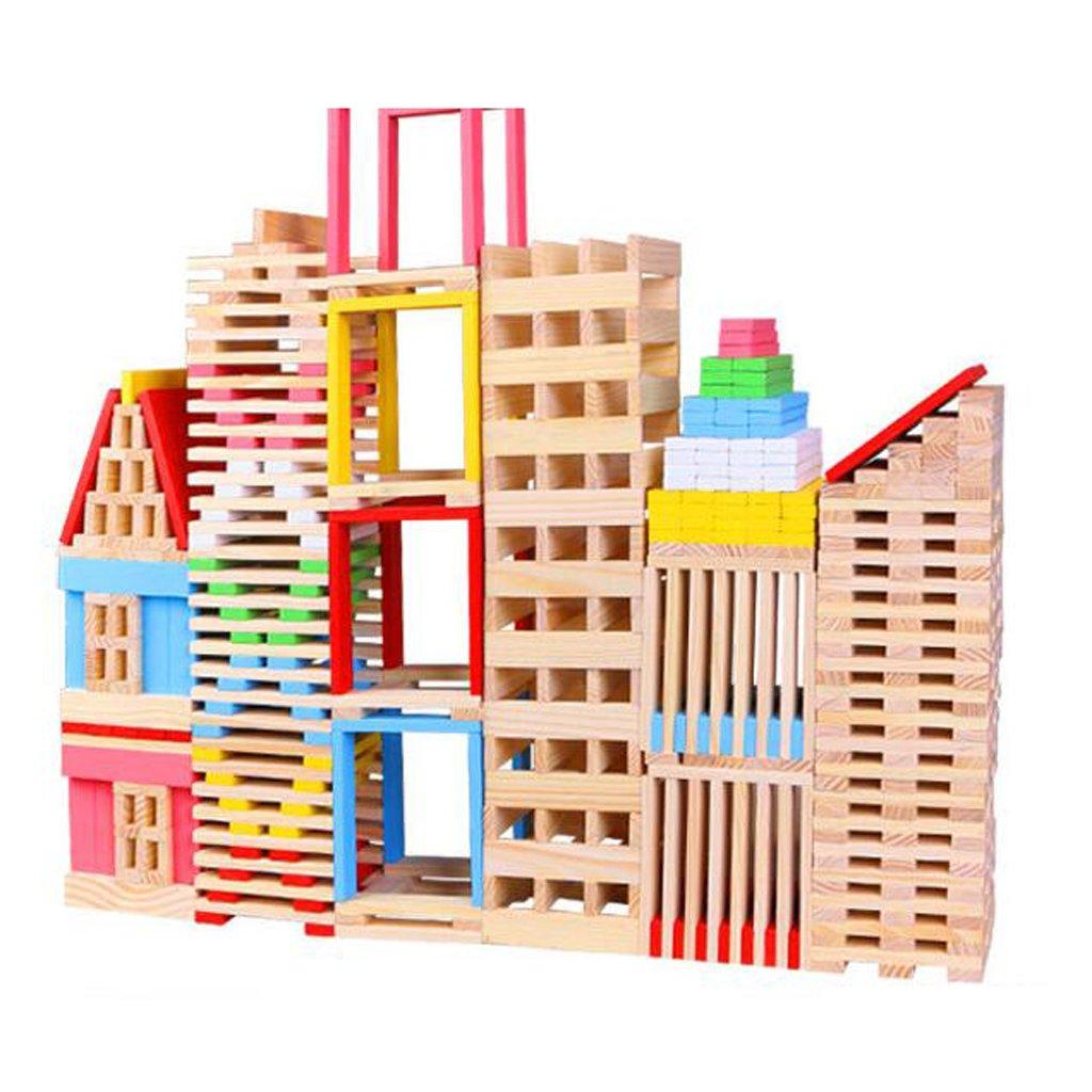 150pcs Blocchi Di Costruzione Costruzione Di Legno Mattoni Bambini  's Giocattoli