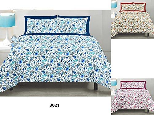 Linenwalas Premium Floral Cotton Dohar - Queen Size, Beige Mix