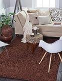 "A2Z Rug ( 120cmx160 cm (4ft x 5ft3"") Brown ) Cozy Shag Collection Solid 5.5 cm Pile Shag Rug Contemporary Living & Bedroom Soft Shaggy Area Rug, Carpet"