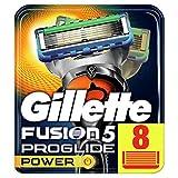 Gillette Fusion Men's ProGlide Power Razor Blades – 8 Blades