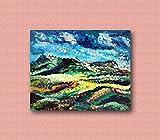 Im europäischen Stil Hand-Painted Retro Malerei, Ölgemälde, Tapeten, personalisierte Schlafzimmer, Wohnzimmer, Hintergrund, Wand, Tapete, abstrakte Blume Wandmalereien - LIGHT PASSAGES - 100x80cm