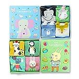 #7: BEBE Socks - Premium Cotton Socks for Kids (Girls & Boys, 3-8 years) - 4 Pair Combo Gift Set - Cartoon Design - Caramella Collections