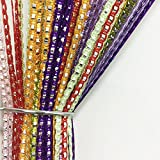 Pindia Set Of 2 Decorative Multicolor Sparkled String Thread Room Door Curtain-Multicolor : 6.6ft x 3.3ft