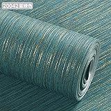 LIUXINDA-BZ Schön und praktisch zugleich Im Namen der minimalistischen Vlies Tapete Pure Pigment Farbe Seide Garn mit Wohnzimmer, Schlafzimmer Tapete, dunkle Blau-grün