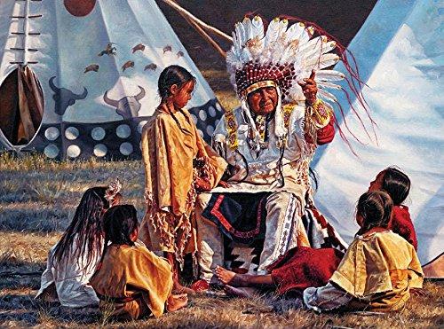Ceaco Native Portraits - Buffalo Tales Puzzle (1000 Piece) by Ceaco -