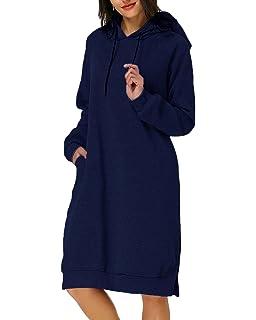 66a6eefa4c0a9 Kidsform Damen Kapuzenpullover Pullover Hoodie Lange Tops Langarm Sweatshirt  Casual Täglich Herbst Pulli Kleider Sweatjacke Jumper