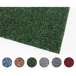 Tapis Gazon Artificiel GREEN avec Picots de Drainage – Tapis Type Gazon Synthétique au mètre | Moquette d'extérieur – Balcon, Terrasse, Jardin, etc – Plusieurs Dimensions