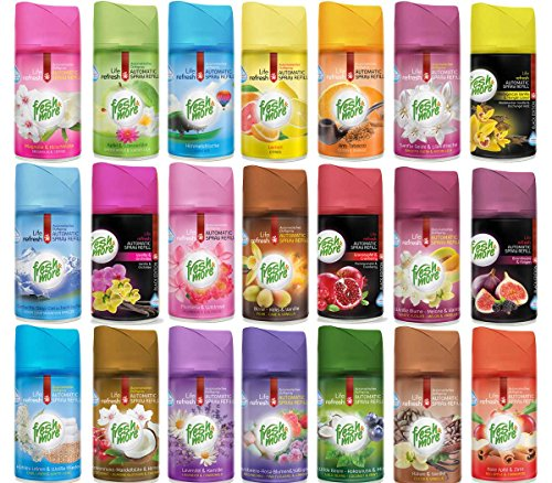 20x Fresh More Mix Lufterfrischer Nachfüller Freshmatic Max Kompatibel, 250ml