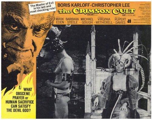 The Crimson Cult Poster Movie 11 x 14 In - 28cm x 36cm Boris Karloff Christopher Lee Mark Eden Barbara Steele Virginia Wetherell Michael Gough