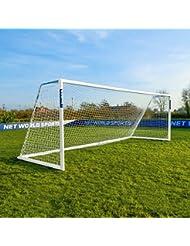 FORZA Alu110 Aluminium Fußballtor mit Netz (3.7m x 1.2m >>> 7,3m x 2.4m) [Net World Sports]