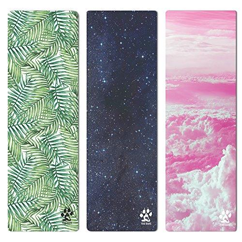 yogi-bare ® Luxuriöse Mikrofaser Studio Yoga Matte mit Frottee für Hot Yoga/Reisen/Maschinenwaschbar/Griff, das sich an Ihre Praxis