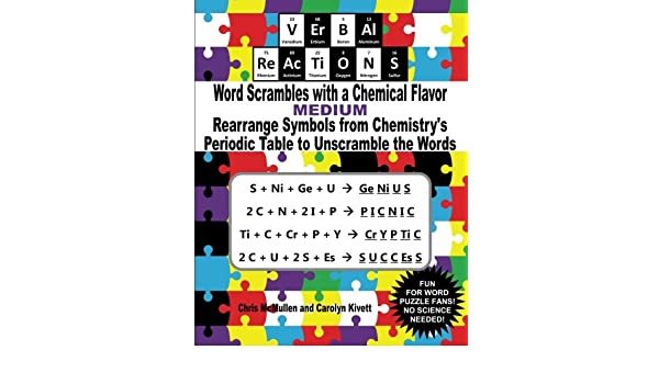 Buy Verbal Reactions Word Scrambles With A Chemical Flavor