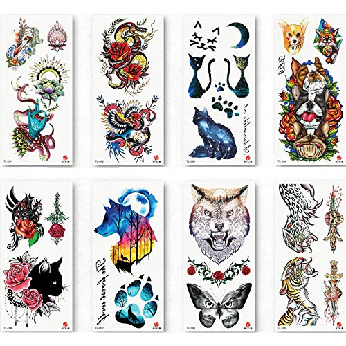 Temporäre Tattoo-Aufkleber Temporäre Tätowierung Aufkleber Wasserdicht Mode Frauen Männer Japanische Geisha Krieger Samurai Gefälschte Körperkunst Kinder Erwachsene Hand Tattoo 19X9 cm