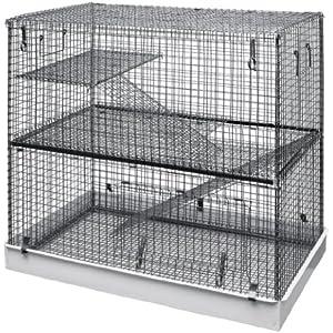 Lazy Bones LB-SA11 Doppelstock-Käfig für Chinchillas und andere Nagetiere