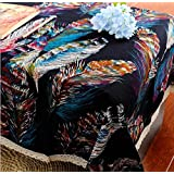 ZHEN Mesa de comedor cuadrada con tela de algod¨®n vintage , 1 , 140*180cm