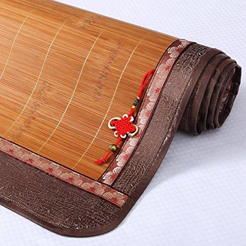 WENZHE Bambus Matratzen Sommer-Schlafmatten Strohmatte Teppiche Hartmetall Doppelseitige Sitze Schlafsaal Zuhause Einzelbett, 0.8 / 0.9m ( Farbe : 3# , größe : 0.8×1.9m )