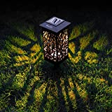 OxyLED Al aire libre Jardín solar luces,Solar Camino de jardín Iluminación al aire libre,8 pack Solar LED Jardín Luces de ferrocarril, iluminación decorativa Paisaje luces jardín patio Césped