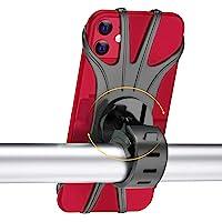 Support de téléphone pour vélo, rotatif à 360 °, réglable et détachable en silicone, support de téléphone de vélo…