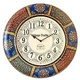 Vintage Clock Hand-Painted Pine Wood Wal...
